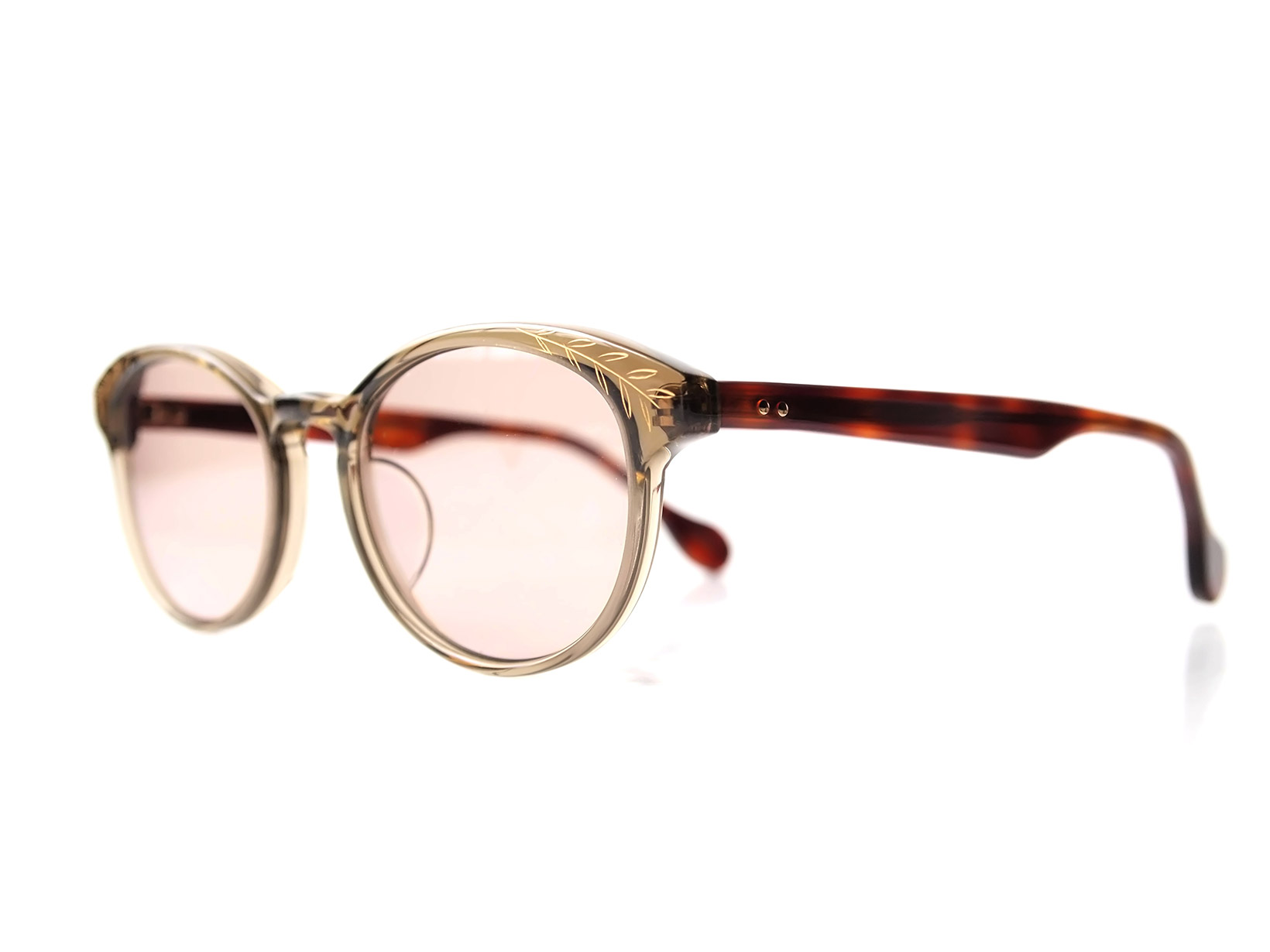 AKITTO 2017-3rd kin color 2489 size:48□19 material: acetate+gold price:39800-(+tax)