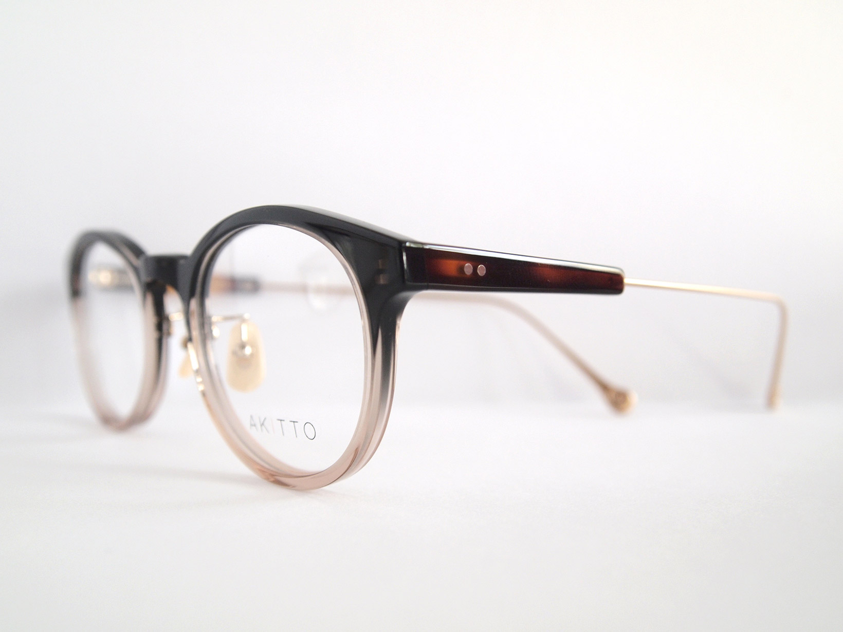 AKITTO 2018-4th rog2 color|GR size:47□21 material:acetate+titanium price:¥39,800-(+tax)