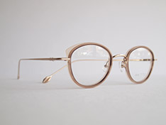 AKITTO 2020-2nd pin10 color:BG size:43□22 material:titanium+acetate price:¥42,000(+tax)
