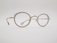 AKITTO 2021-3rd pin17 color|GY size:43□25 material:titanium+acetate price:¥46,200-(税込み)