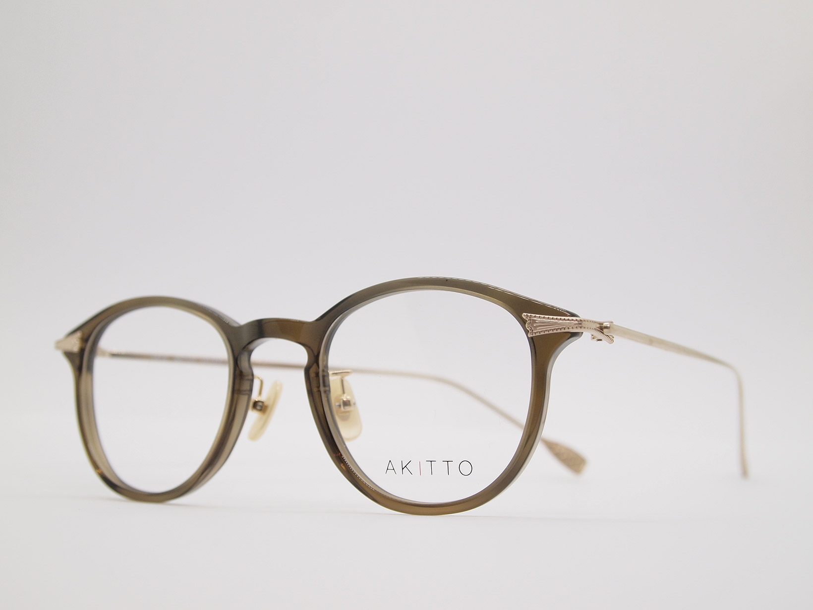 AKITTO 2021-4th tas3 color|KH size:45□22 material:acetate+titanium price:¥46,200-(税込み)